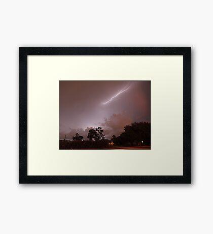 Lightening show Framed Print