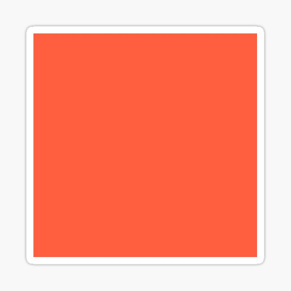 Living Coral Peach Fashion Color Trends Spring Summer 2019 Sticker