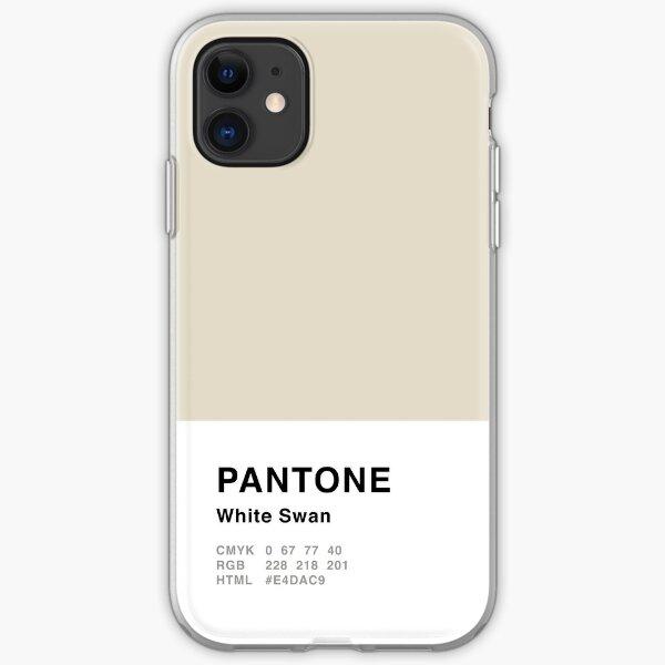 Weißer Schwan Pantone Simple Design iPhone Flexible Hülle