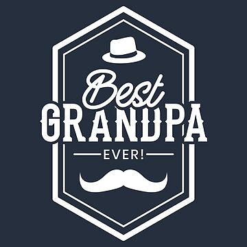 Best Grandpa Ever hat and Mustache white - Gift Idea by vicoli-shirts