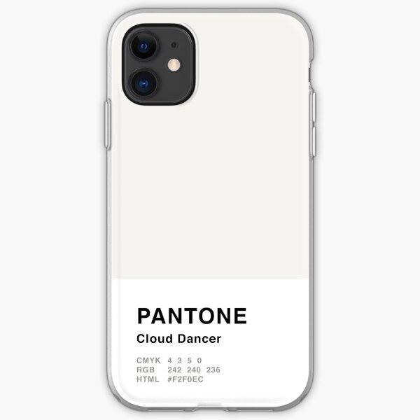 Cloud Dancer Grey Pantone Einfaches Design iPhone Flexible Hülle