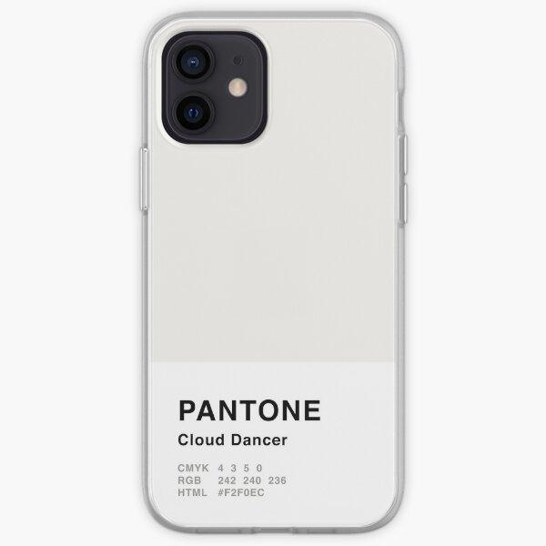 Cloud Dancer Grey Pantone Simple Design iPhone Soft Case