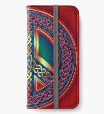 Celtic Knot of Peace - metallic version iPhone Wallet/Case/Skin