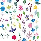 Flower leaf repeat by stamptout
