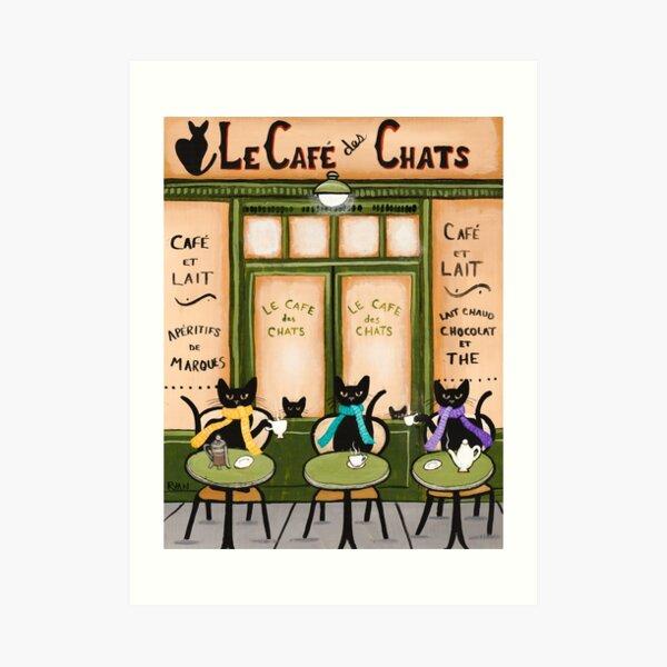 Le Cafe des Chats Art Print