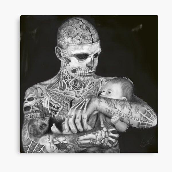 man-zombies #2 CANVAS Rick Genest Art Print Poster