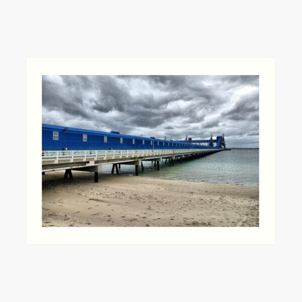 CBH Grain Terminal Conveyor - Kwinana Beach Art Print
