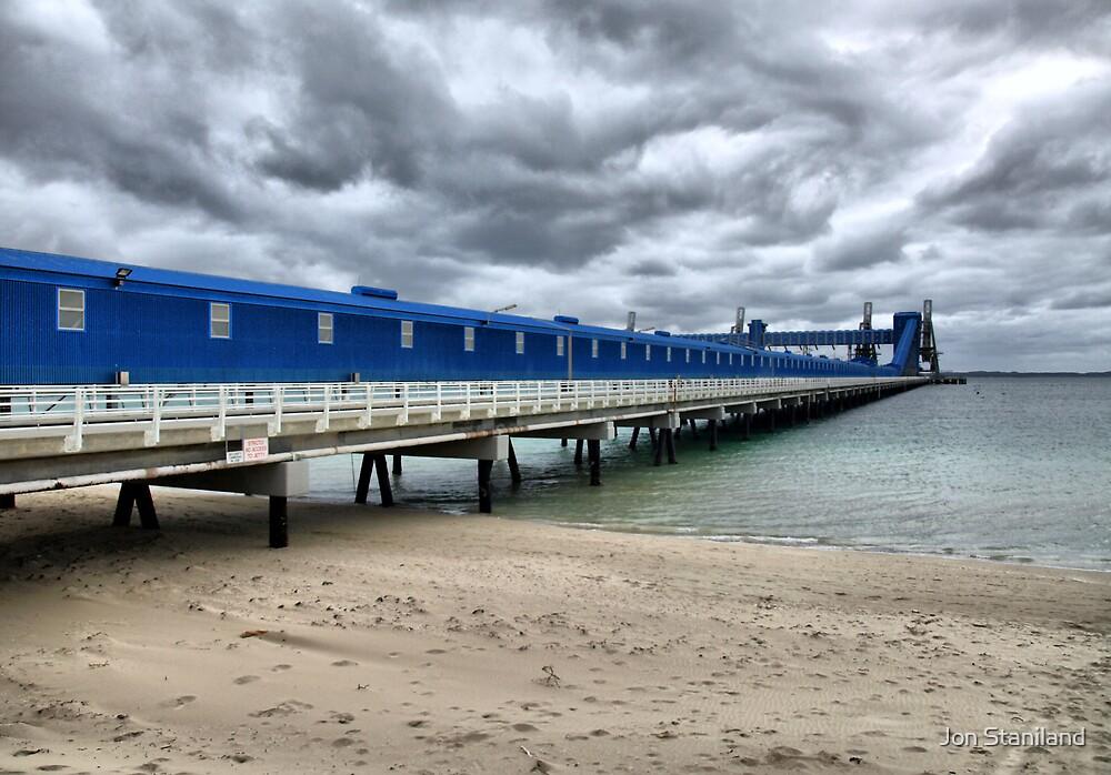 CBH Grain Terminal Conveyor - Kwinana Beach by Jon Staniland