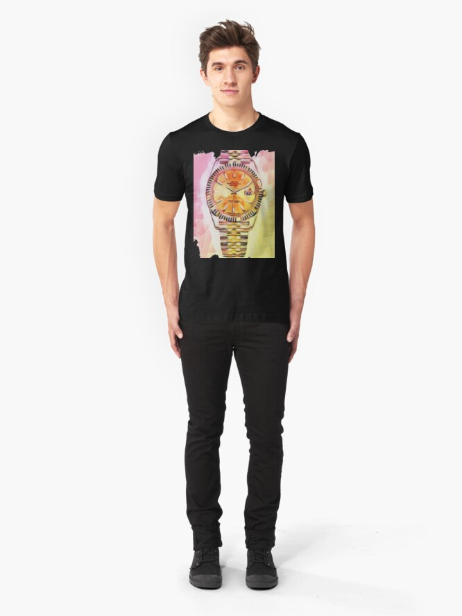 Alternative Ansicht von Uhrzeit Rolex Slim Fit T-Shirt