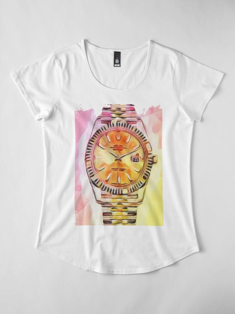 Alternative Ansicht von Uhrzeit Rolex Premium Rundhals-Shirt