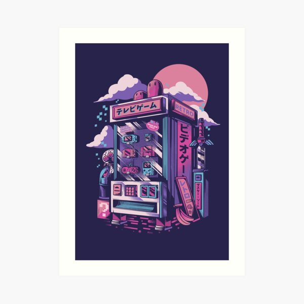 Retro gaming machine Art Print