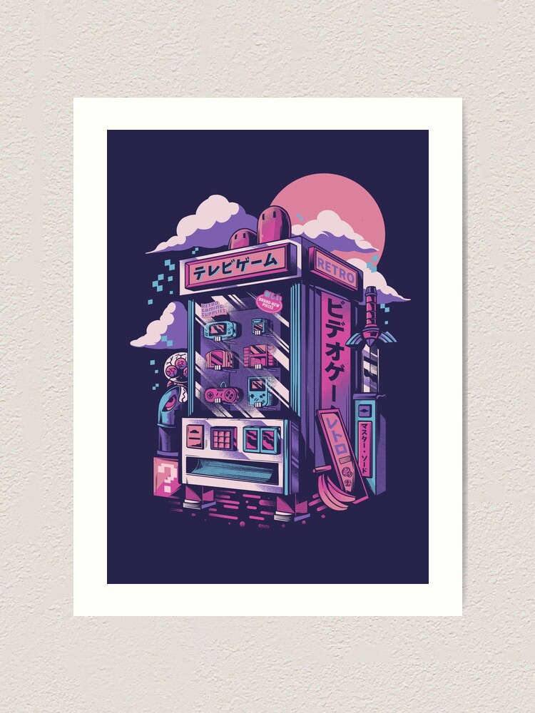 Alternate view of Retro gaming machine Art Print