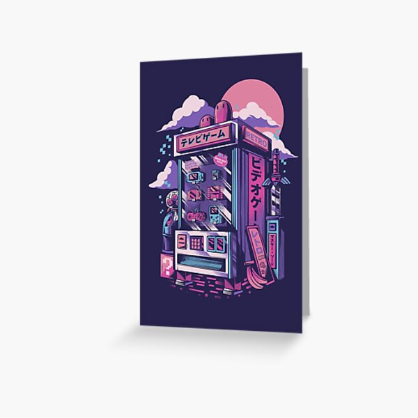 Retro gaming machine Greeting Card