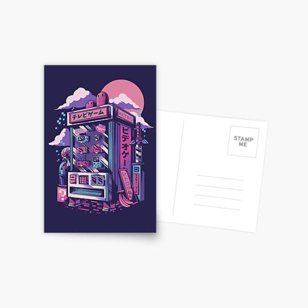 Machine de jeu rétro Carte postale