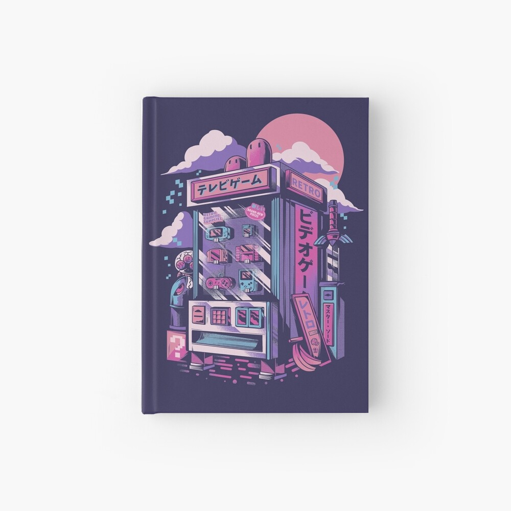 Retro gaming machine Hardcover Journal