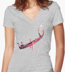Venedig Schaukel Shirt mit V-Ausschnitt