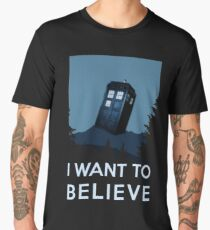 I want to believe - dreams of time travel, Tardis Men's Premium T-Shirt