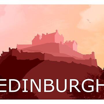 Edinburgh Castle Sunrise by NeonArcade87