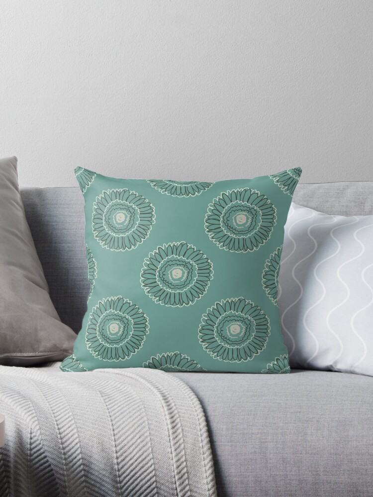 Wired Gerbera in soft teal by Annette Chabidon
