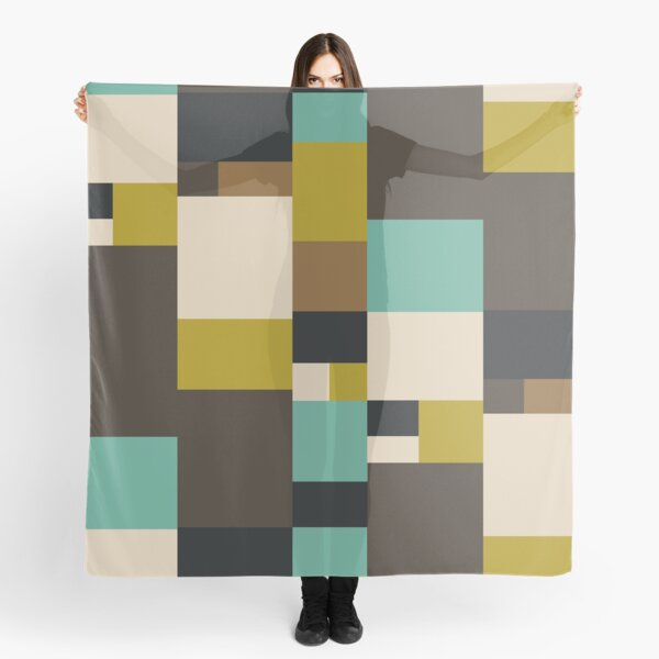 Classic Mid Century Modern Inspired Fabric Textile Design Scarf