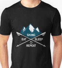 Ski Eat Sleep Repeat Unisex T-Shirt