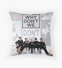 why dont we boy band  Throw Pillow