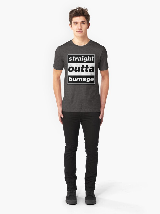 Alternate view of Straight Outta Burnage, Our Kid Slim Fit T-Shirt