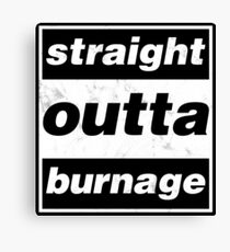 Straight Outta Burnage, Our Kid Canvas Print