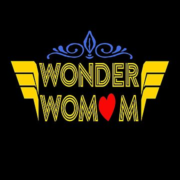Wonder WoMOM Mother's Day Mom Life Gift  by Teeshirtrepub