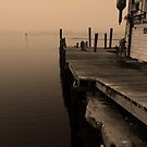 Foggy dock by kathy s gillentine