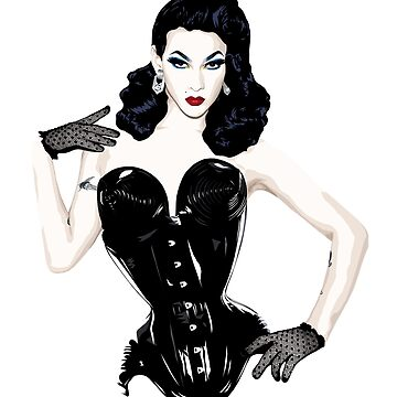 Violet Chachki, RuPaul's Drag Race Queen by vixxitees