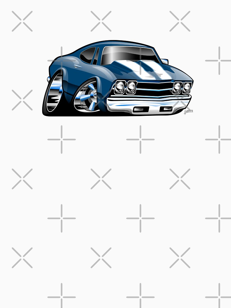 69 Muscle Car Cartoon by hobrath