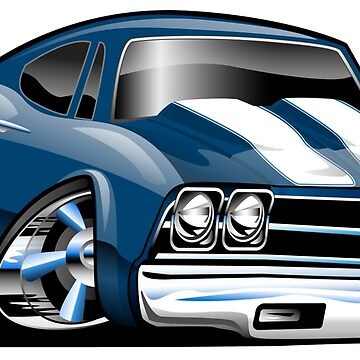 69 Muscle Car Cartoon by hobrath