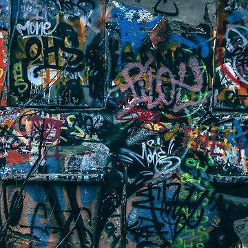 A graffti wall in Szeged, Hungary by hypnotzd