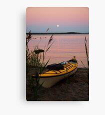 sleepy kayak and the full moon Canvas Print