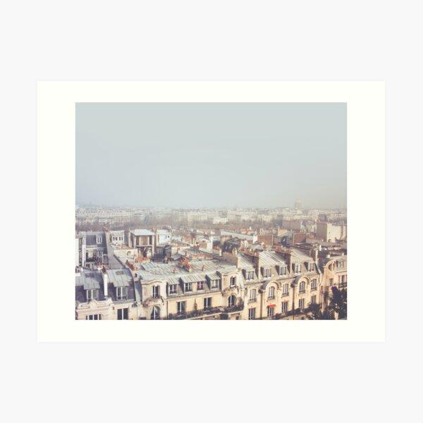 Paris Morning Rooftops Art Print