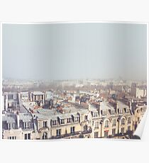 Paris Morning Rooftops Poster