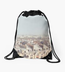 Paris Morning Rooftops Drawstring Bag