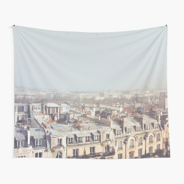 Paris Morning Rooftops Tapestry