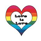 LGBT Pride-Love is Love Design by PurposelyDesign