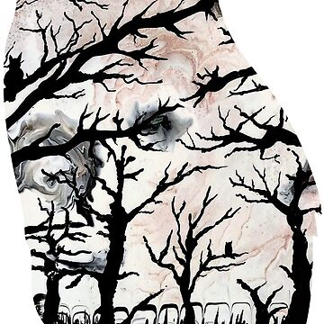 """""""Barren Owl' - Gothic - Halloween - Owl - Forest - Abstract Print  by robfullerartist"""
