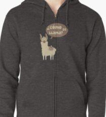 Como se llama? Funny Animal Design Zipped Hoodie