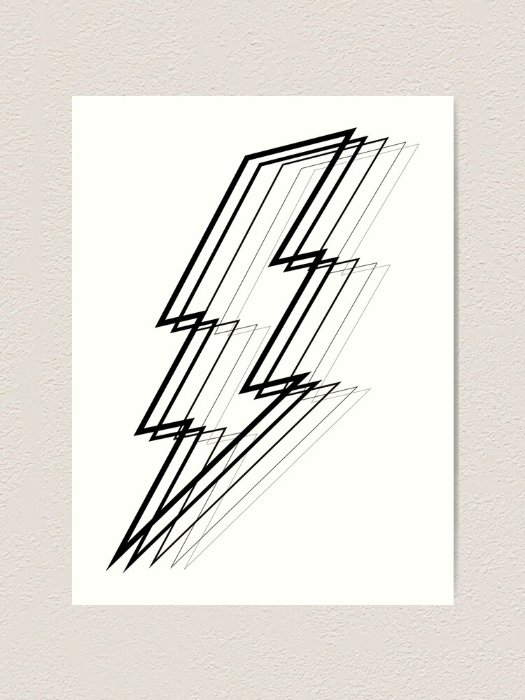 Alternate view of Lightning Bolt Art Print