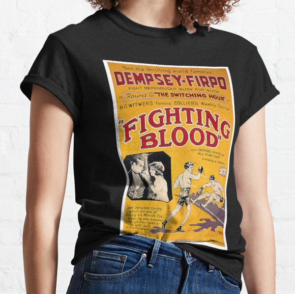 BOXING. Vintage JACK DEMPSEY, BOX, FILM POSTER, Fighting Blood. Classic T-Shirt