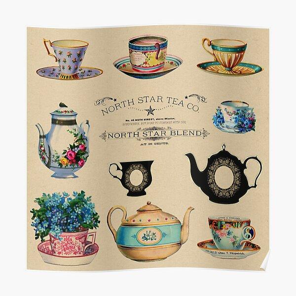 Vintage retro North Star Tea Company ad Poster