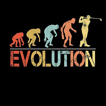 Evolution of Golf Player Vintage Retro Gift by Teeshirtrepub