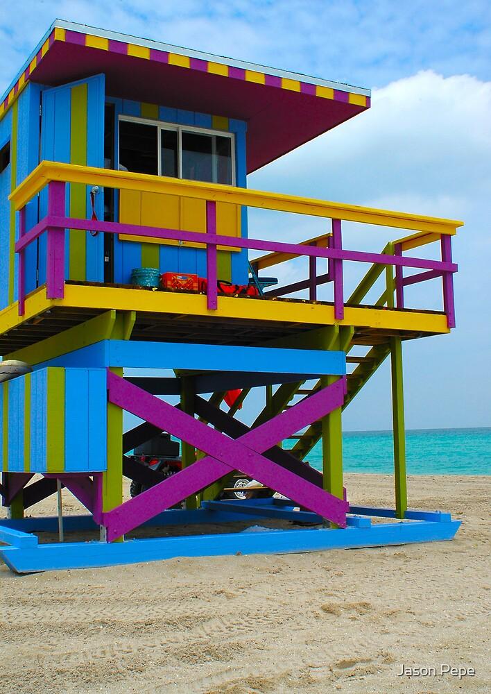 Art Deco Lifeguard South Beach, Miami by Jason Pepe