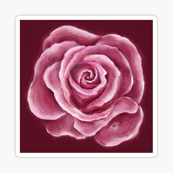 Friendship Rose Sticker