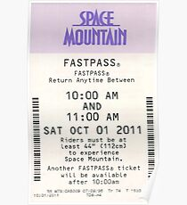 Space Mountain Fastpass Poster