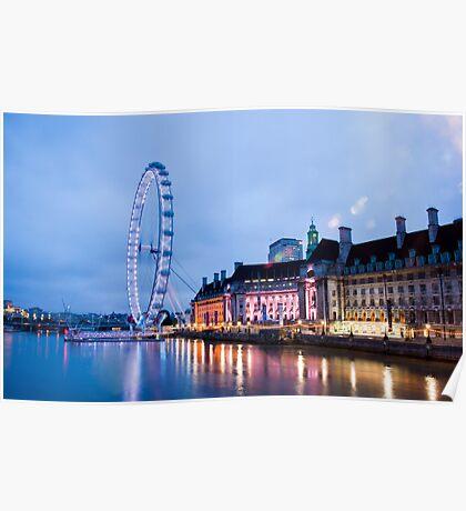 In The Twinkling of an Eye: London Eye Poster